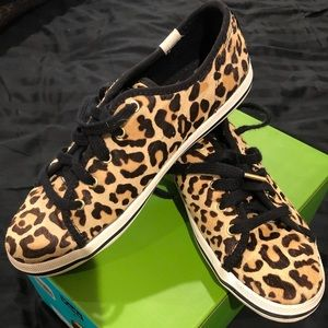 Kate Spade leopard-print youth sneakers